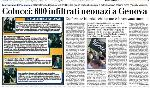 Frontpage and article on Nazi infiltrators (Il Secolo XIX) (Italian)