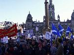 15000 at Peace Demo in Glasgow