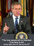 President Bush defines his war policy