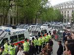 HOW many police vans? (mayday london)