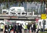 excel dsei underpass blockade 10th sept 03