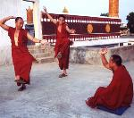 Tibetan monks try to maintain their culture in exile