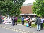 Exercising our right to protest outside Solihull Magistrates