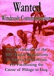 Windrush Communications Wanted for Facilitating the crime of Plunder