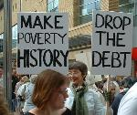 Make poverty history / Drop the debt