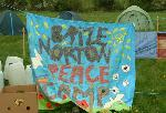 Brize Norton Peace Camp banner
