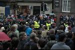 March held on Royal Mile, composed of busless protesters