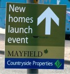 Countryside Properties Mayfield development unlawful flyposting...
