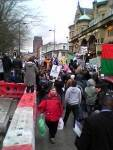 Hope Street jampacked with protestors