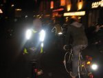 This is how dark it was at last month's Critical Mass