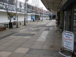 Farnborough - empty streets, boarded-up shops