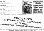 PROTEST! 21ST OCTOBER!