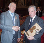 Criminal Mikhail Cherney presents Lord Pearson of Rannoch with the award