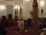 Inside the Royal Arch temple in Bristol freemasons' hall