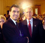 William Rodriguez honoured by George W Bush