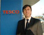 Tesco distribution director Laurie McIlwee: not a happy chappy