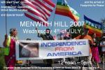 4th of July 2007 - USAF - Menwith Hill Demonstration