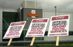 CWU picket at Birmingham's main mail centre