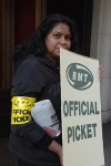 On strike for jobs and pensions....