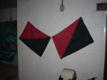 Two nice red and black flags. One would later be 'borrowed'!