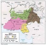 Baloch population in pink - In Iran, Pakistan and Southern Afghanistan