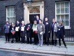 Maria in Downing St on 9/1/08 with assorted MPs and a Peer of the Realm