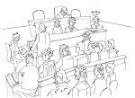 Day 1: Artist impression from inside court by Elsa