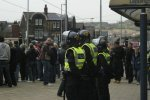 Was there a need for police in riot gear..
