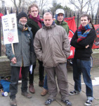 Wobblies and friends on NBS picket line