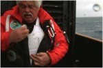 Paul Watson immediately after being shot by Japanese Coasr Guard