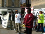 Rose speaking at a TCAR march last year