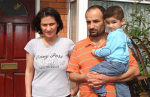 Fatma Yavruk and her family, including 22 month old baby Arda