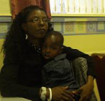 Rebecca Lutayakamya and her son Darren from Uganda
