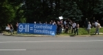 Protesters outside Bilderberg 2008 where war crimes are being planned