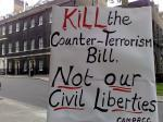 Peace Strike action against the Counter-Terrorism Bill today