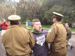 Arrests were made outside the IWC meeting
