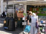 Guildford recycling information stall at local farmers market