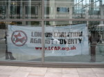 LCAP banner inside RBS offices