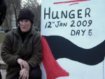 Maria on the 6th day of her hunger strike