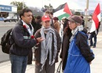 Donna and Darlene Wallach at a weekly Gaza demonstration in San José