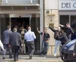 Simon Darby-Deputy Leader of BNP Greeted by fascist salutes in Milan