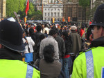 Roads blocked by Tamils and policed by police