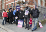 Leeds College of Art Picket Line