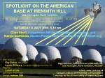 Spotlight Demo, Menwith Hill, 4th July, 5pm.