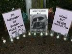 SHAC protest outside HLS in rememberance of Barry in Occold, Suffolk, November 5