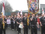 BUA blackshirts on a march - wonder which the EDL member is?