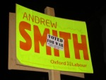 Andrew Smith poster stickered