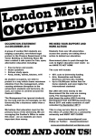 London Met occupation communique