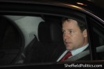 Clegg leaving Sheffield Town Hall