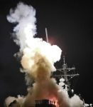 Destroyer the USS Barry fires a Tomahawk missile, to protect people. But who?